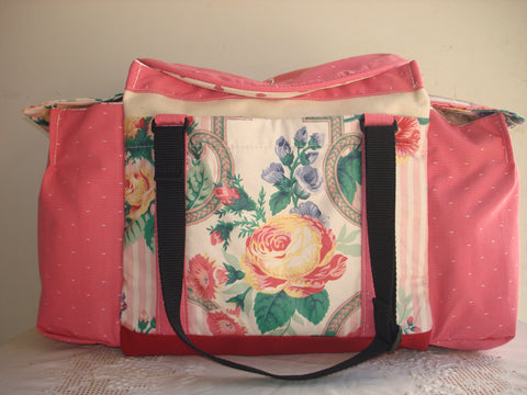 Deluxe Knitting/Crochet Tote Bag-ROSE POTPOURRI