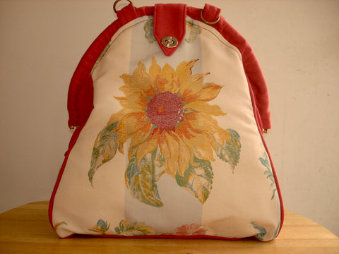 Mini-Mary Poppins Backpack/Project Bag/School Bag-HELIANTHUS