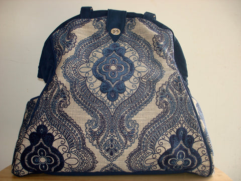 Mary Poppins Tapestry Overnight Bag-WEDGEWOOD