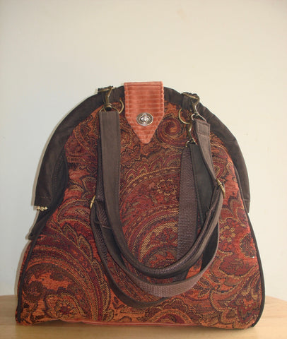 Mini-Mary Poppins Backpack/Project Bag/School Bag-ARABIAN NIGHTS