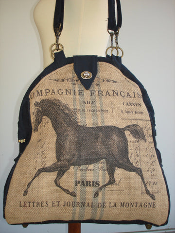 Farmhouse Designs Mini-Mary Poppins Backpack-EQUINE