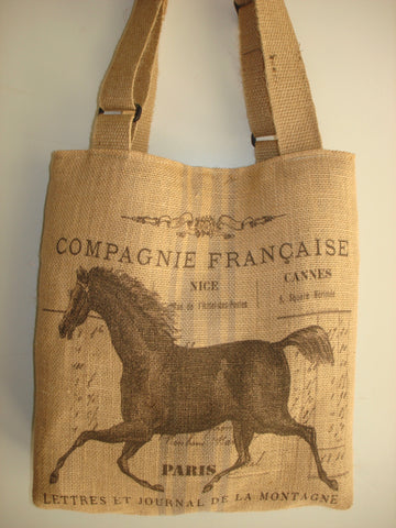 Farmhouse Designs Vintage Country Tote Bag-EQUINE