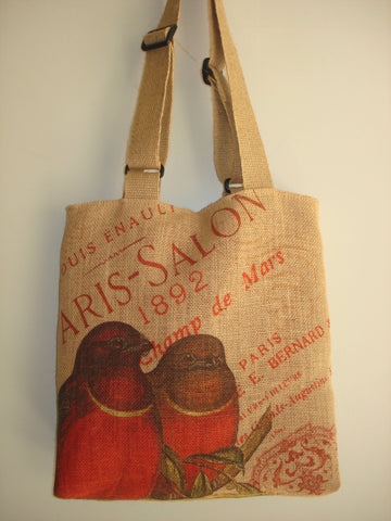 Farmhouse Designs Vintage Country Tote Bag-LOVEBIRDS