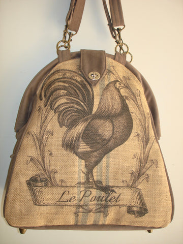 Farmhouse Designs Mini-Mary Poppins Backpack-FRENCH COCKEREL