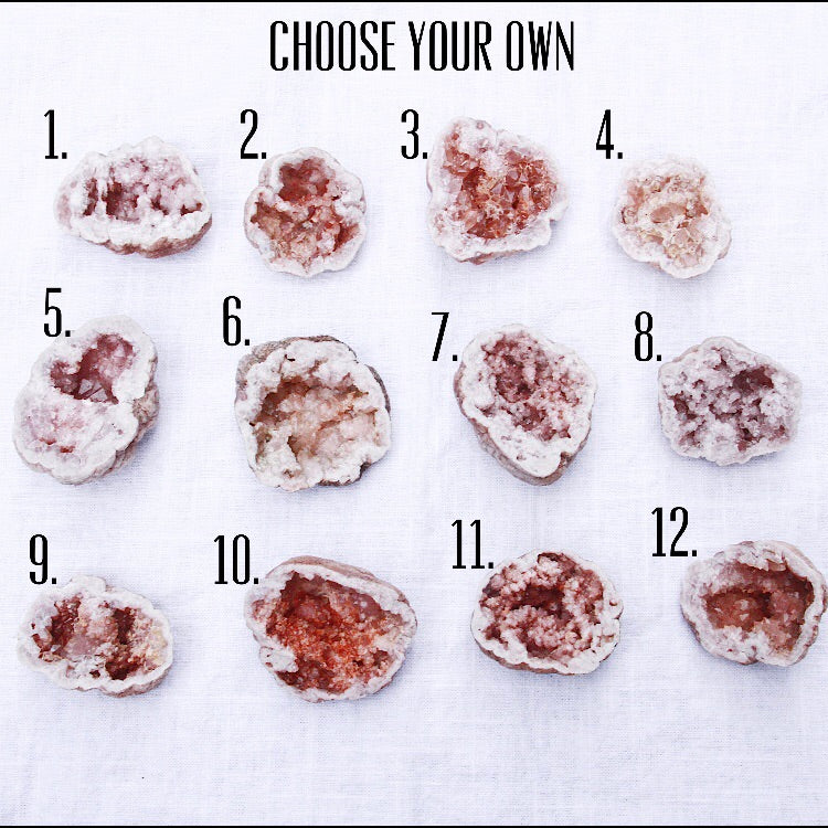 Pink Amethyst Geode (Choose Your Own)