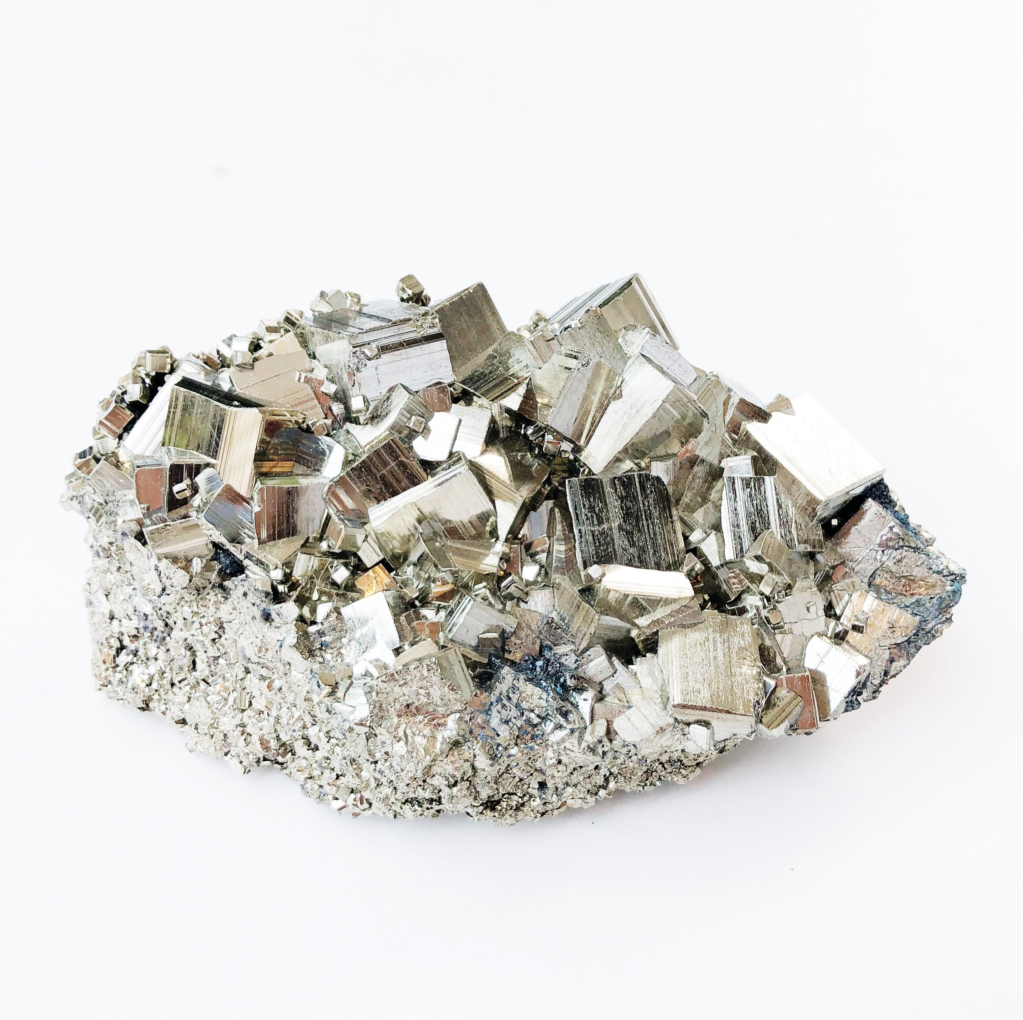 Large Geometric Pyrite Cluster