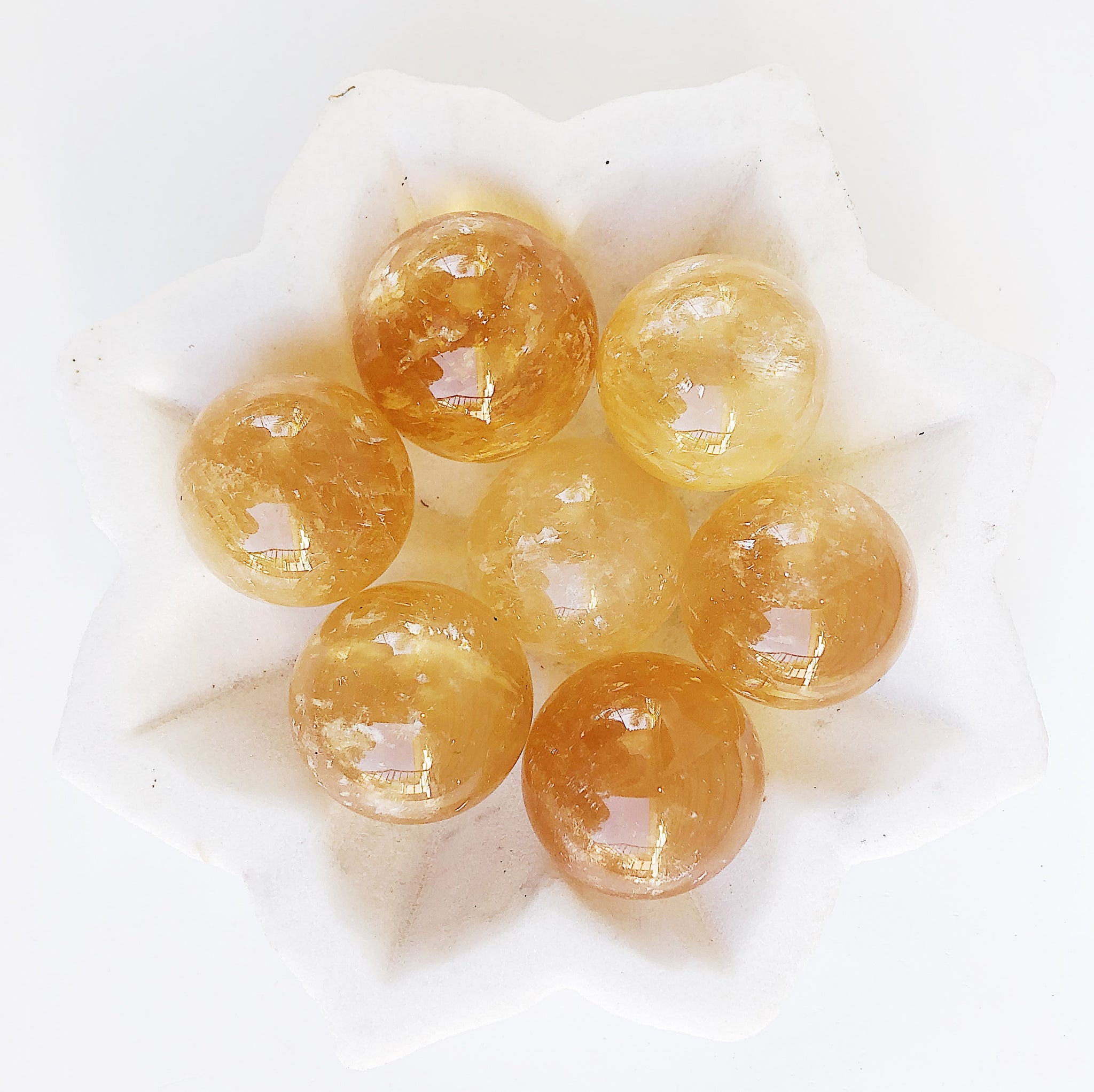 Mini Honey Calcite Spheres