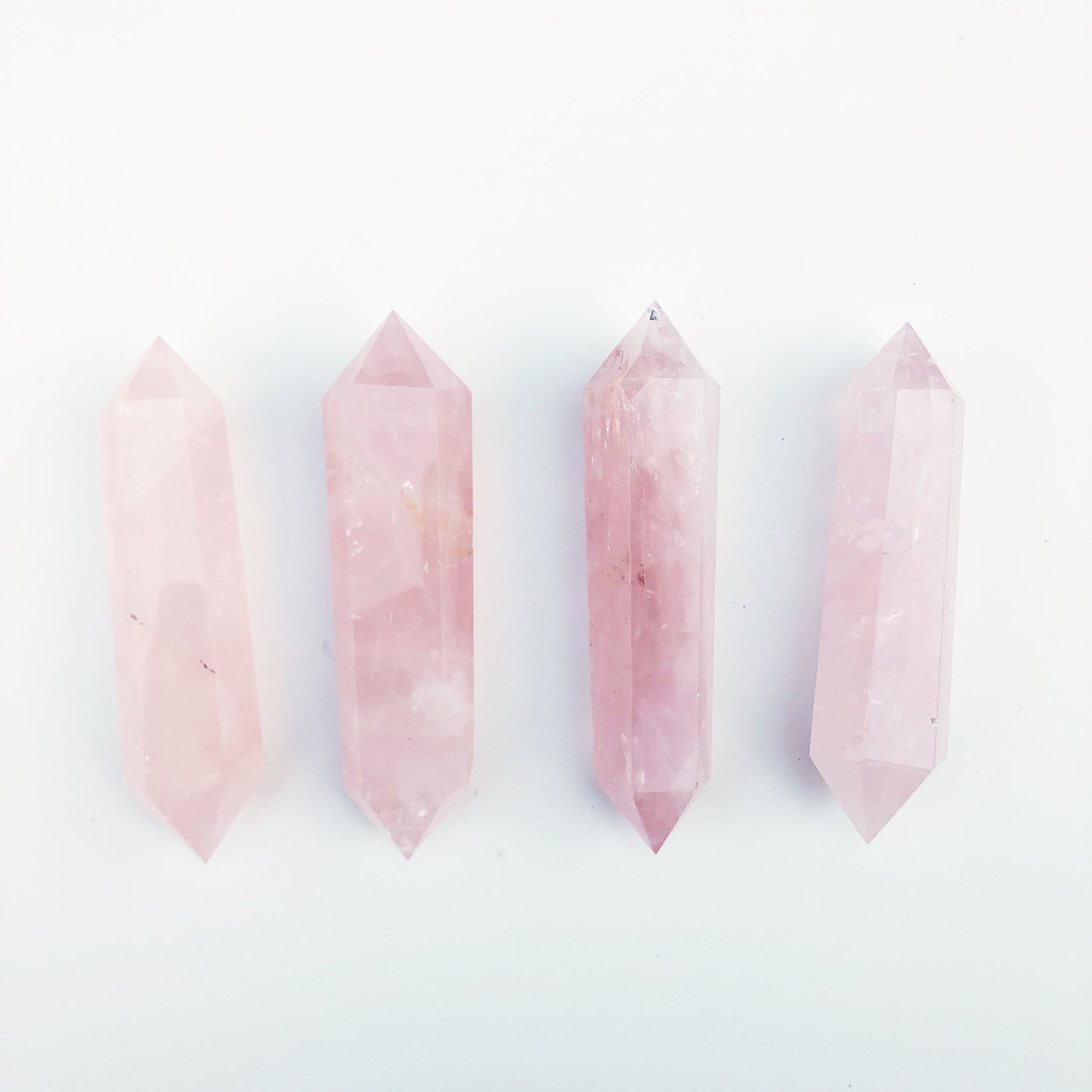 Double Terminated Rose Quartz Point