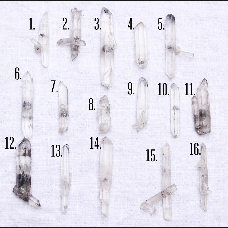 Tibetan Carbon Include Clear Quartz Lasers