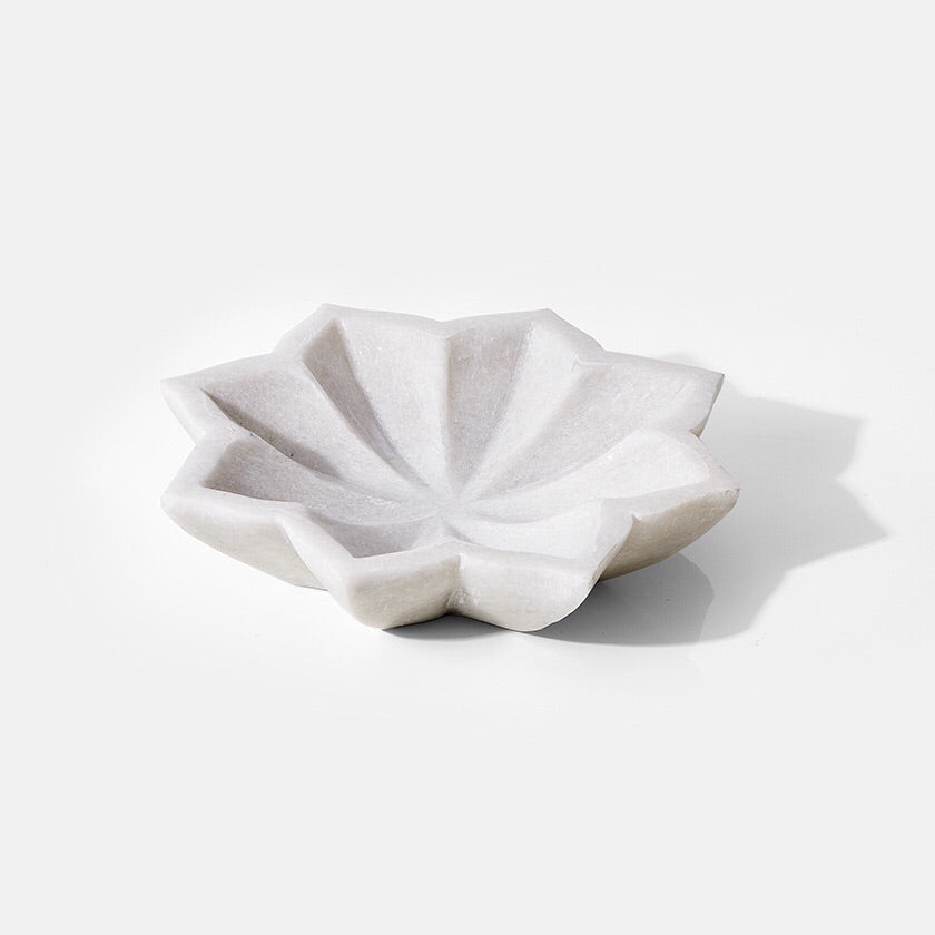 Marble Lotus Smudge Dish