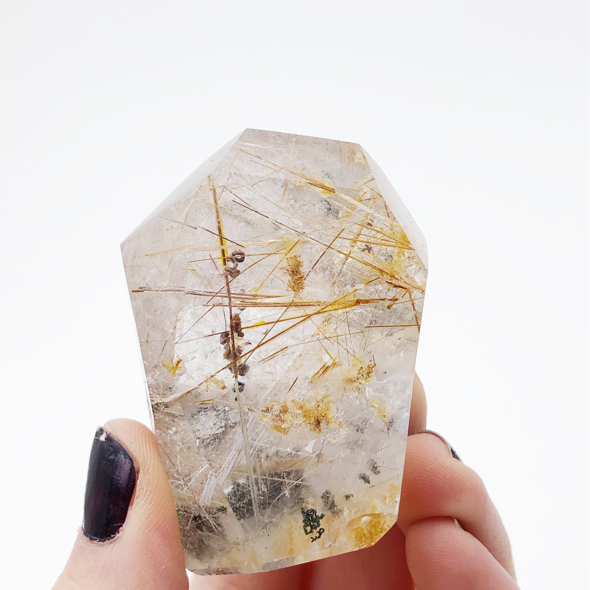 Polished Rutilated Inclusion Quartz