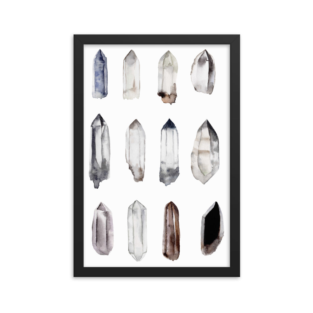 Crystal Points Framed poster