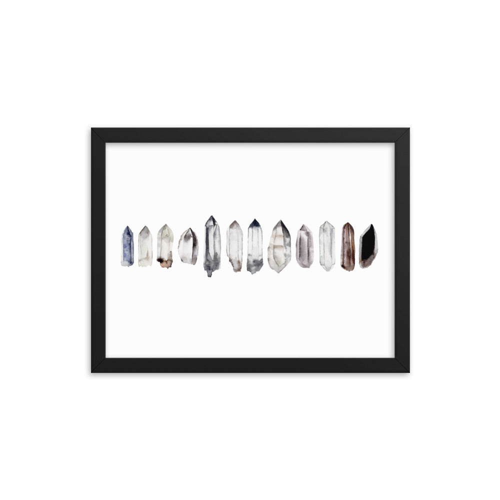 Crystal Points Framed Print