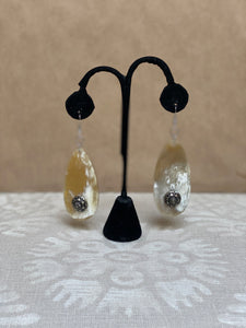 Horn earrings with Vintage buttons