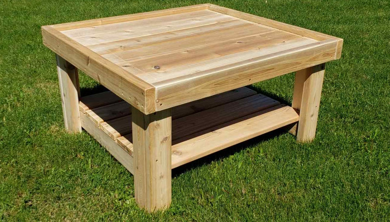 Outdoor Wooden Square Tray Table
