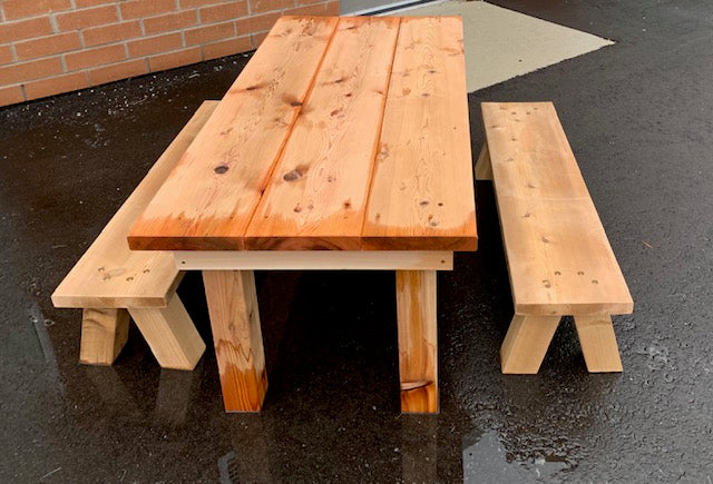 Project Table & 2 Benches Kindergarten Set