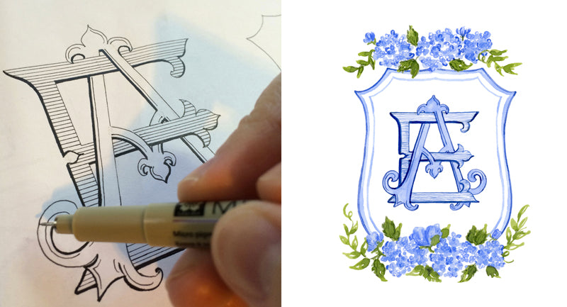 How to create a monogram for your wedding