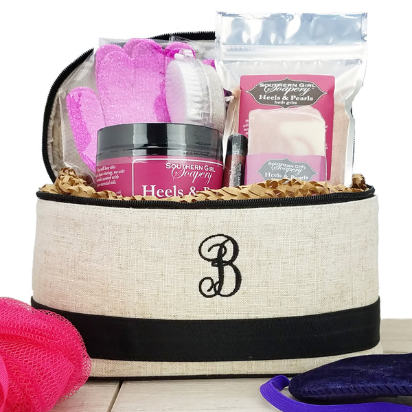 Monogrammed Cosmetic Case Gift Set