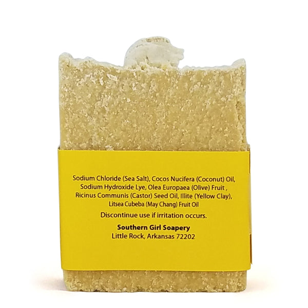 Lemon Drop Luxury Bar Soap with Sea Salt