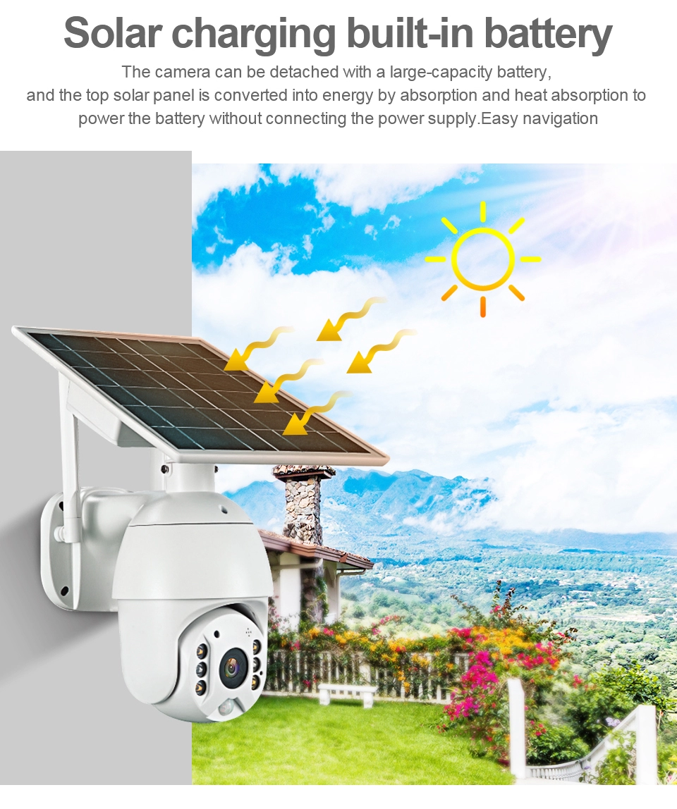 4g sim card solar ip wifi lte camera cctv dome cam wireless camara 5x zoom pir camera