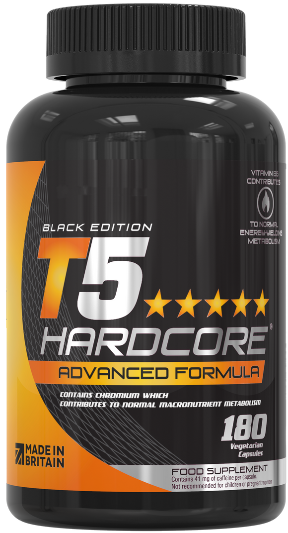 T5 Hardcore® Advanced Thermogenic Fat Burners 180 Vegetarian Capsules