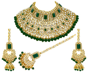 Kundan Half Bridal Choker Necklace Set