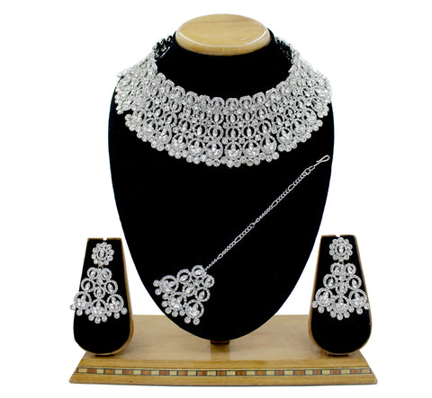 Dazzling Wedding Jewelry Austrian Diamond Choker Necklace Set