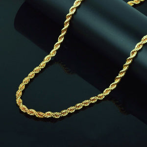 18K Gold Plated Rope Chain