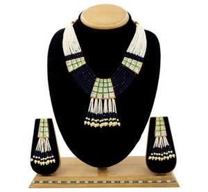 AD Pendent Mala Set With Minakari And Multi Colour Beads For Women & Girls