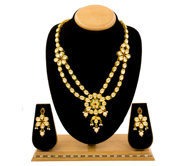 Traditional Minakari Kundan Gold Plated Choker  Necklace Set for Women