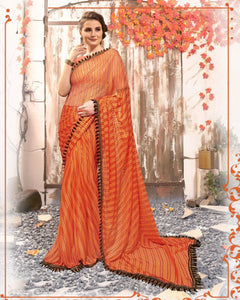 Festive Collection light Weight Printed Lycra silk Sarees for Women.