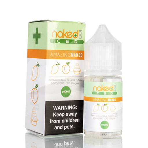 Amazing Mango by Naked 100 CBD Vape Juice - 600mg/30ml