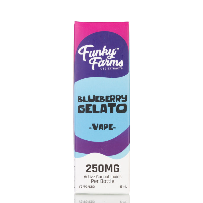 Blueberry Gelato by Funky Farms Vape Juice - 250mg/15ml