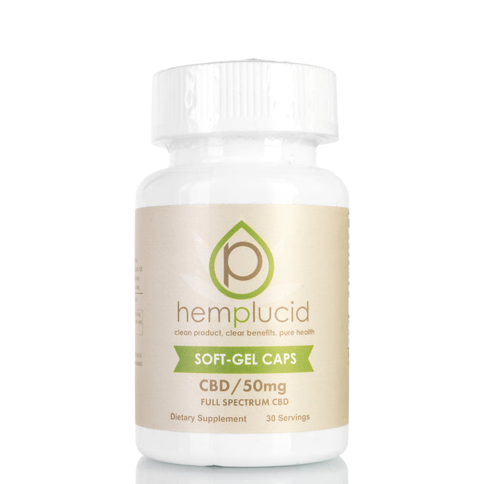CBD Soft-Gel Capsules by Hemplucid - 1500mg/30ct