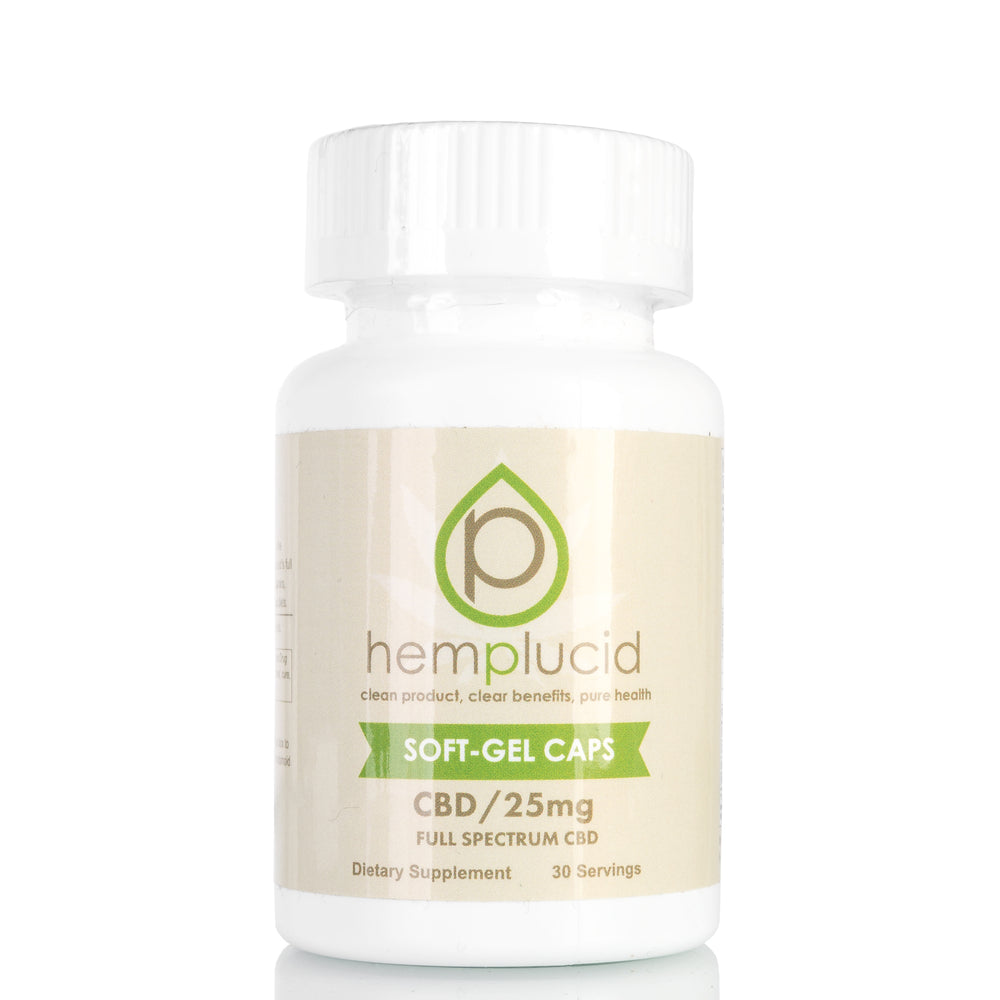 CBD Soft-Gel Capsules by Hemplucid - 750mg/30ct