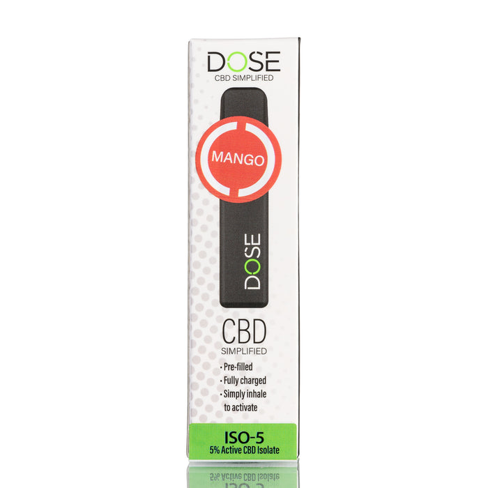 Dose Disposable CBD Pod Device - Mango ISO-5