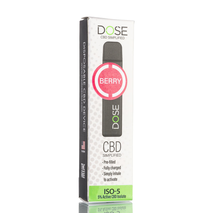 Dose Disposable CBD Pod Device - Berry Mint ISO-5