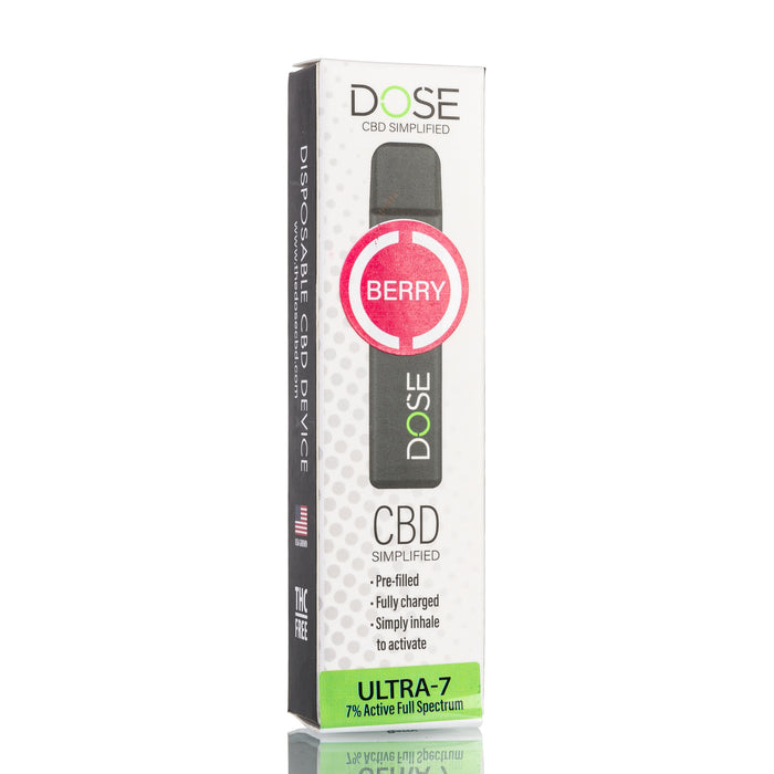 Dose Disposable CBD Pod Device - Berry Mint ULTRA-7