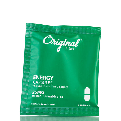 Energy Daily Dose by Original Hemp Capsules - 25mg/2ct