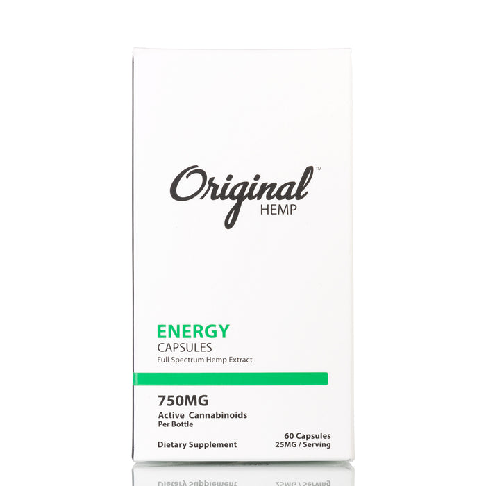 Energy by Original Hemp Capsules - 750mg/60ct