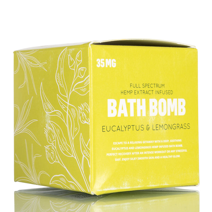 Eucalyptus and Lemongrass by GRN CBD Bath Bomb - 35mg/6oz