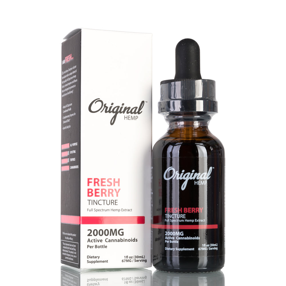 Fresh Berry Full Spectrum by Original Hemp Tincture - 2000mg/30ml