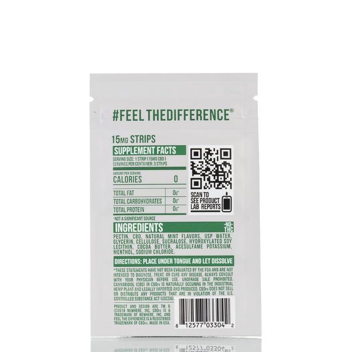 Fresh Mint by CBDfx Hemp Strips - 45mg/3ct