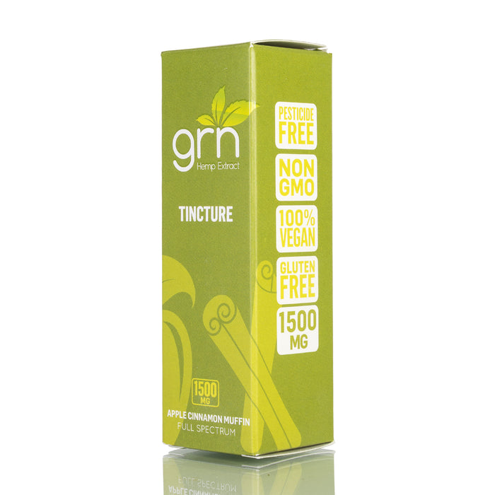 Apple Cinnamon Muffin by GRN CBD Tincture - 1500mg/30ml