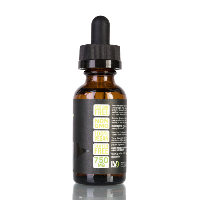 Unflavored by GRN CBD Tincture - 750mg/30ml