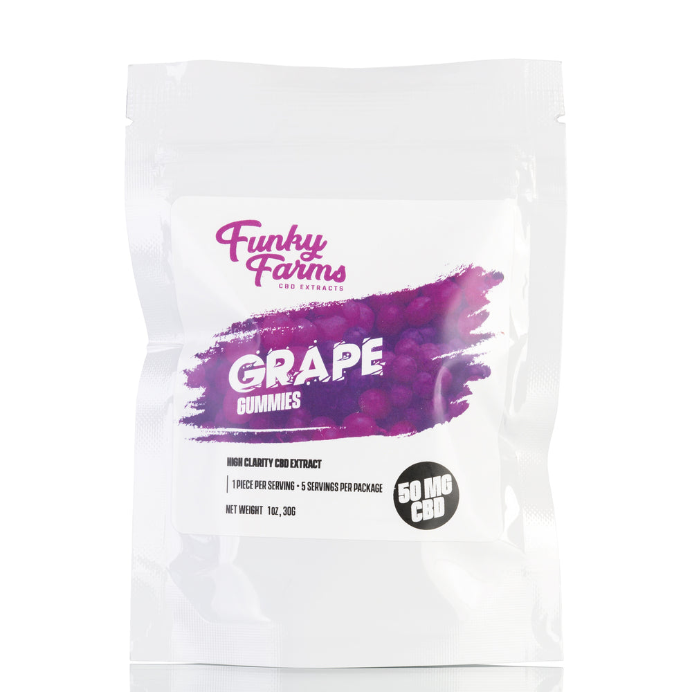 Grape CBD Gummies by Funky Farms Gummies - 50mg/5ct