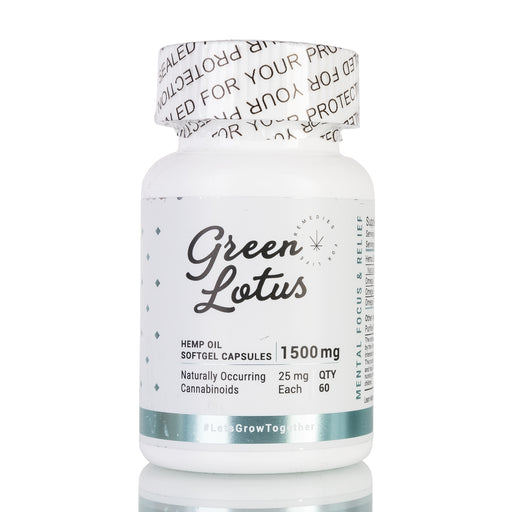 Hemp Oil Softgel Capsules by Green Lotus - 1500mg/60ct