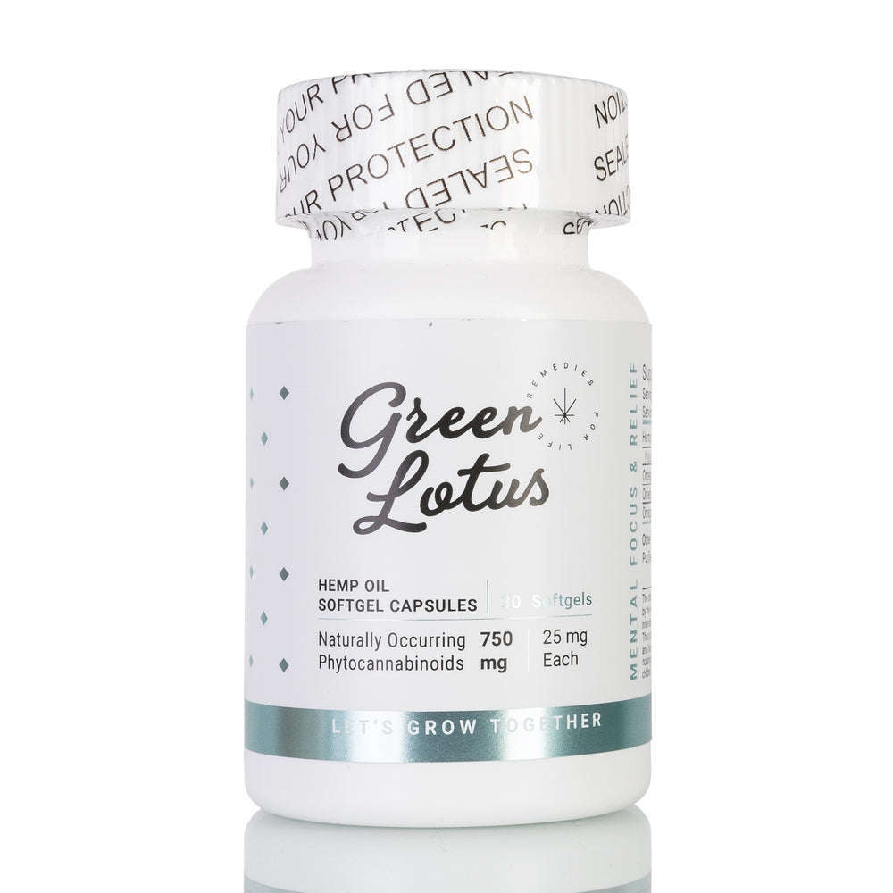 Hemp Oil Softgel Capsules by Green Lotus - 750mg/30ct