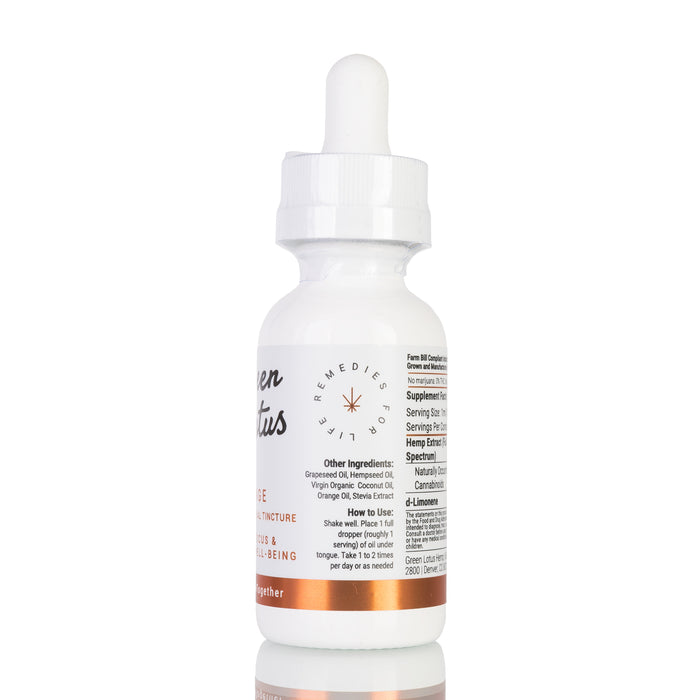 Orange by Green Lotus Tincture - 500mg/30ml