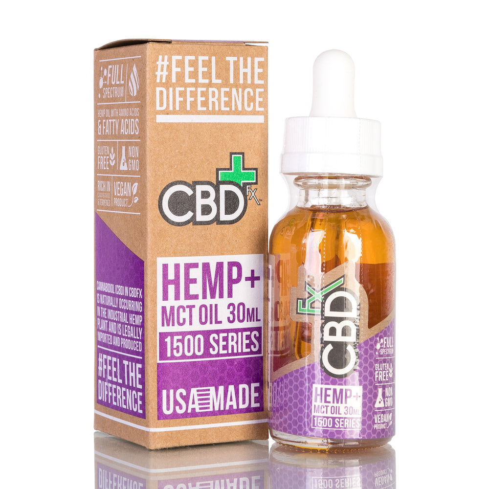 Hemp MCT Oil by CBDfx Tincture - 1500mg/30ml